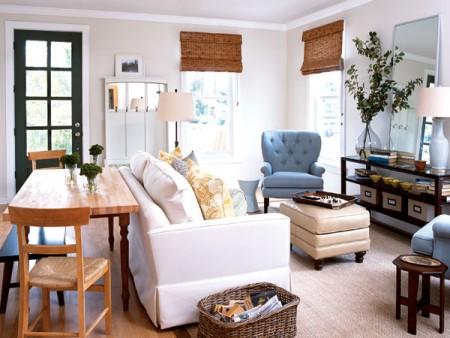 客厅是家中聚会的场所,应注意的是光线调节功能强,且能点缀居家空间的窗帘。(图片来源 My Home Ideas)