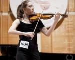 來自茱莉亞音樂學院的Arianna Warsaw-Fan讚賞新唐人小提琴大賽恢復和弘揚東西方傳統文化的宗旨。(攝影﹕愛德華/大紀元)