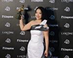 呂麗萍奪下金馬影后,意外獲獎,被稱是本屆金馬奬的一大黑馬。(攝影: 陳建霖 / 大紀元)