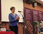 萊娜•帕薩寧在世界艾滋日研討會上  (攝影:高磊/大紀元)(攝影:  / 大紀元)