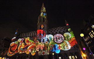 迎接佳节 比利时点亮灿烂圣诞灯饰