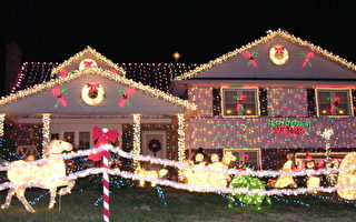 美德拉华州一住宅点亮百万圣诞灯饰