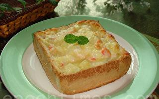 【采秀私房菜】亲子同乐的焗烤厚片土司