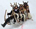 组图:德国巴伐利亚传统雪橇节开幕
