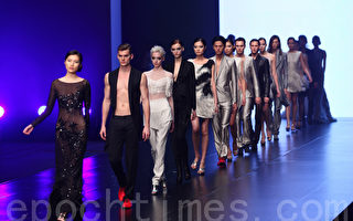 北京设计师王培沂时尚别致,奢华高贵,受大陆明星热捧。(摄影:潘在殊/大纪元)