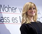 女星瑞茜·威瑟斯彭(Reese Witherspoon)展露灿烂笑容,在柏林亮相宣传新片。(图/Getty Images)