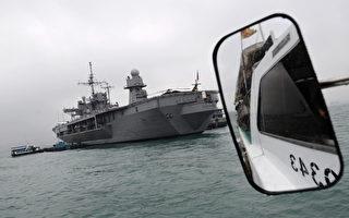 美国第七舰队旗舰蓝岭号访问香港