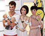 香港男女名模演绎腕表的浪漫故事。(摄影:余钢/大纪元)