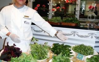 来自后山的野菜,经大厨巧手就能跃上五星级饭桌。(摄影:黄玉燕 / 大纪元)