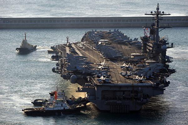 美核潛艇搶先卡爾文森號訪港 保安森嚴