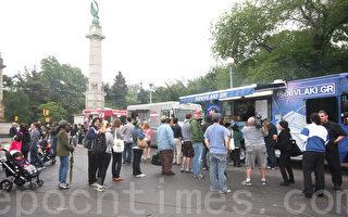 【图片新闻】流动餐车的美食盛会