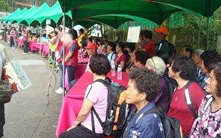 樟湖村村民总动员参加演练,以预防灾害并熟知灾害应变方法、疏散路线及安置场所。(摄影:黄丽医/大纪元)