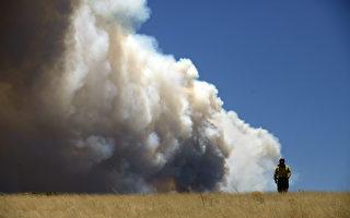 组图:美国亚利桑那山火蔓延 逼近邻州
