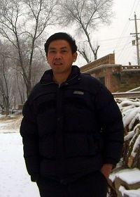 2007年冬汤毅在中太银铁路工地(明慧网图片)