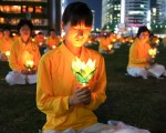 7.20反迫害 燭光照亮「首爾心臟」