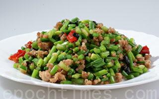 苍蝇头:豆豉炒韭菜肉末