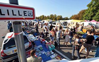 組圖:法國里爾跳蚤市場 全城熱賣