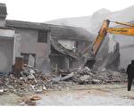 图为2010年2月25日,上海市政府强拆曾家房屋的现场。(知情者提供)