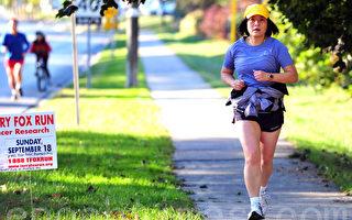 参加Terry Fox Run为癌症研究筹款