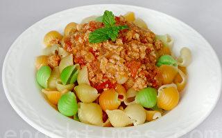 【采秀私房菜】咸香Q弹茄汁肉酱贝壳面