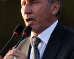 10月23日,利比亚过渡政府领导人穆斯塔法‧阿卜杜勒‧贾利勒(Mustafa Abdel Jalil)在班加西举行仪式宣告该国全面自由。(AFP PHOTO/ABDULLAH DOMA)