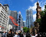 悉尼乔治大街(攝影:簡玬/大紀元)