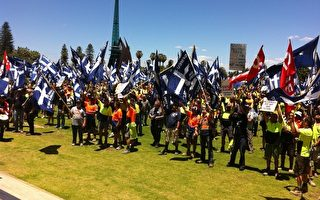 珀斯上千人遊行抗議雪佛龍僱用外國工人