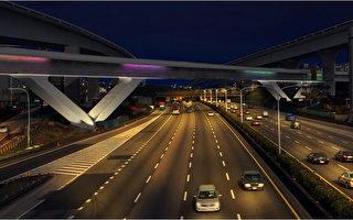 機捷V型橋  7色燈光活潑地標