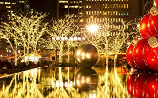 溫馨浪漫聖誕節:聖誕到了,世界各地充滿了節日氣氛。溫馨動聽的聖誕歌曲在耳邊環繞、漂亮喜慶的聖誕飾品隨處可見......等到夜晚五彩繽紛的燈飾一亮,就像是進入了夢幻世界。紐約浪漫聖誕節 第六大道上的聖誕燈飾(攝影:戴兵 / 大紀元)