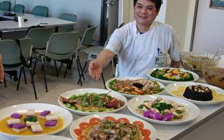台中署立医院推健康低碳年菜。(摄影:  黄玉燕/ 大纪元)