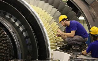 德国2011年GDP增长3%,失业率降到20年来最低。图为西门子公司汽轮机厂 (Sean Gallup/Getty Images)
