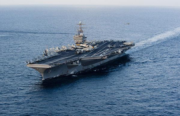 美軍「林肯號」核動力航母。(法新社)