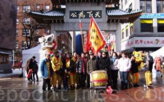 华埠主街新年花市舞狮助庆