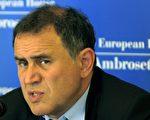 經濟學家「末日博士」魯比尼 (Nouriel Roubini) 周二警告,迫使希臘採取財政緊縮措施及結構性改革,只會讓經濟衰退更加惡化,導致償債能力無以維繫。(OLIVIER MORIN/AFP/Getty Images)