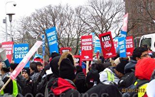 多倫多專上學生遊行 要求削減學費