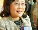 韩国国宝文学协会会长李静润,感激神韵演出为她带来无与伦比的幸福。(摄影:金国焕/大纪元)