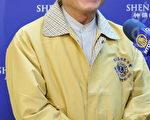 国际狮子会台湾总会300-C3区总监张伯光,2012年 3月28日下午,在台中中山堂观赏神韵纽约艺术团演出。(摄影:苏玉芬/大纪元)
