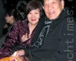 台北市政府捷運工程局前局長常岐德(左)伉儷(攝影:戴德蔓/大紀元)