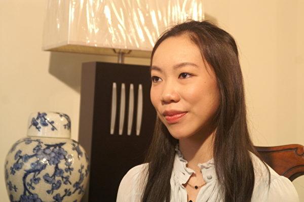 郭芷貝於2012年3月在紐約接受採訪(大紀元)