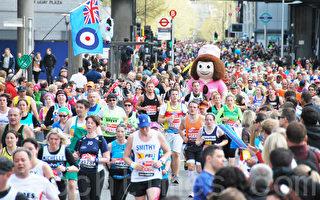 組圖:4萬人開跑 倫敦最大馬拉松資格賽