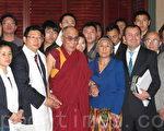 达赖喇嘛4月21日在与来自中港台的华人代表会谈中表示,如果中国实现民主自由,西藏问题可在一个周内解决。(摄影:刘菲/大纪元)