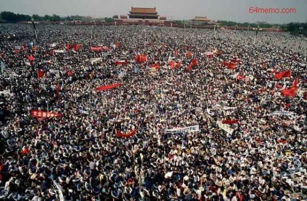 1989年六四事件前的天安門。(網絡圖片)