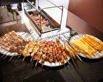 正宗延邊朝鮮族烤串,美味、超值。(攝影:愛德華/大紀元))