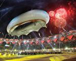 2010年10月14日英联邦运动会闭幕式在印度德里举行。(Daniel Berehulak/Getty Images)
