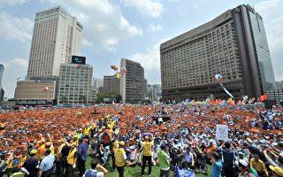 组图:南韩22万计程车司机罢工集会