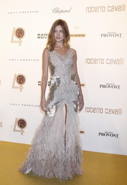 2010年9月29日,納塔利•沃佳諾娃在慶祝意大利時裝品牌Roberto Cavalli 40週年的活動上(圖/Getty Images)