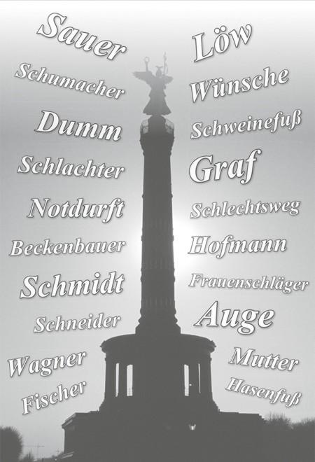 姓愚蠢姓内急 稀奇古怪的德国名字