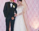 黃懷晨、戴君竹6月30日完婚。(攝影:黃宗茂/大紀元)
