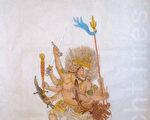 中国传统画家章翠英作品-伏魔金刚(图片来源:作者提供)