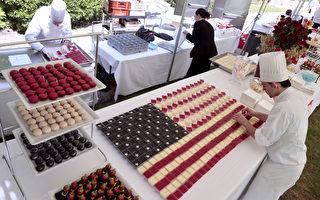 图片新闻:爱到最高点 甜点星条旗迎国庆